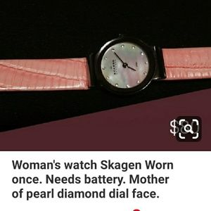 Womans watch Skagen Mother of Pearl face